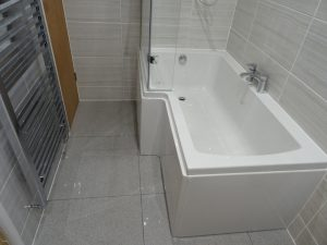 Bathroom with L Shaped Shower Bath Thamley Rd Coventry