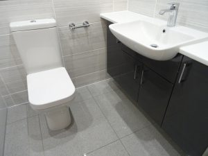 Bathroom with wall hung fitted furniture Thamley Rd Coventry