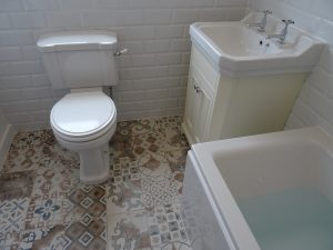 Tavistock vitoria vanity basin and toilet fitted in Coventry