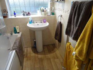Bathroom before the work was carried out