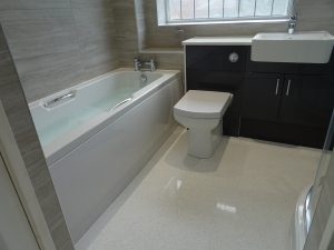 Bathroom renovation on completion of the bathroom refit