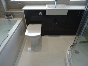 Bathroom with bath and shower Coventry