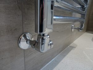 Chrome heating Pipe in bathroom Coventry