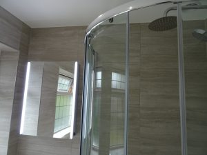Shower enclosure 100cm by 80cm in bathroom