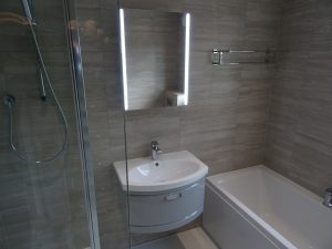 Tavistock Tempo light grey wall hung basin
