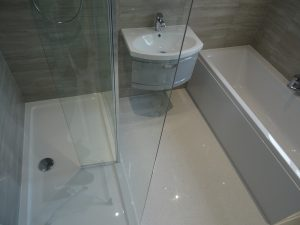 Bathroom with walk in shower and double ended bath Coventry