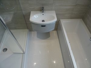Bathroom fitted with separate bath and walk in shower Coventry