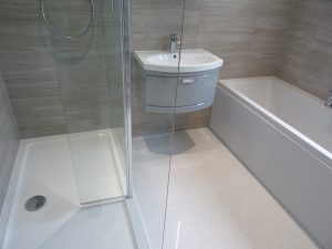 New Fitted bathroom with walk in shower Coventry