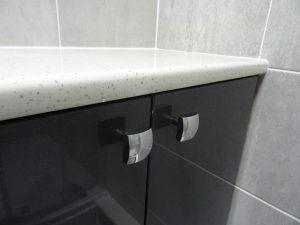 White Quartz bathroom work top