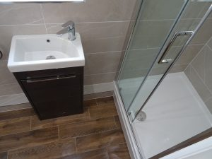Ensuite Shower room with stone resin shower tray