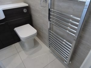 Fitted shower room Coventry with Chrome towel rail
