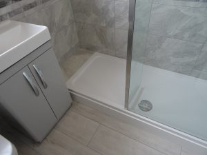 Fitted shower room coventry with stone resin shower tray