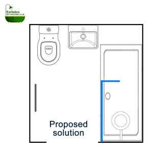 Proposed bathroom design Coventry