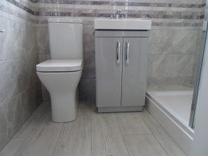 Tavistock Structure toilet with tavistock compass 500mm vanity basin in light grey